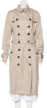 Burberry Convertible Beat Check-Lined Coat