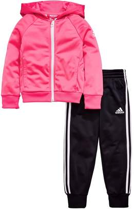 adidas Younger Girls Knit Tracksuit - Pink/Black