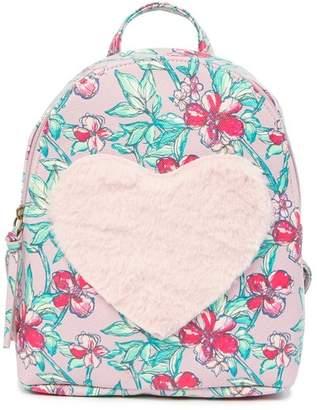 T-Shirt & Jeans Floral Love Faux Fur Backpack