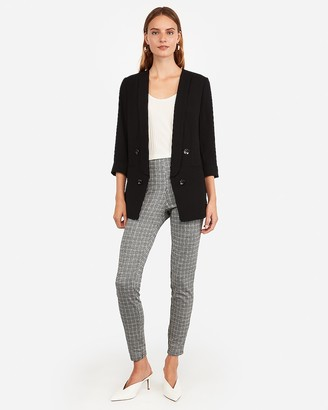 Express Double Breasted Collarless Blazer