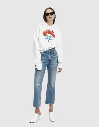 Off-White Off White Heart Not Trouble Crop Hoodie