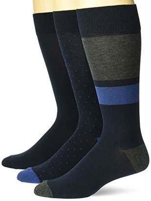 Buttoned Down Amazon Brand Men's 3-Pack Pima Cotton Pattern Dress Socks
