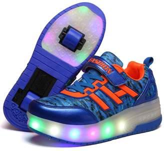 Heelys Unknown Christmas gift KIDS Girls Heelies Wheels SKATE ROLLER SHOES LED Lights Up Retractable ( -)