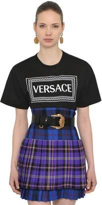 Versace Logo Printed Jersey T-Shirt