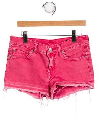7 For All Mankind Girls' Denim Mini Shorts