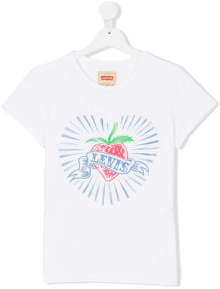 Levi's Kids strawberry and logo banner print T-shirt