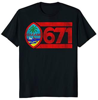Guam Seal 671 Old School Faded T Shirt