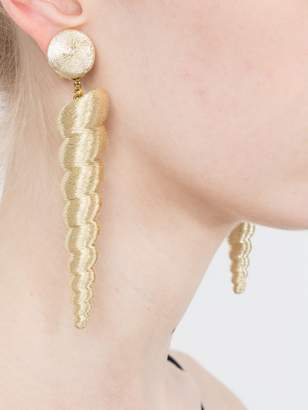Rebecca De Ravenel Large twisty gold earrings