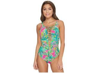 Lilly Pulitzer Isle Lattice One-Piece Swimsuit