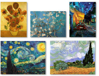 Charlton Home 5 Piece Graphic Art by Vincent Van Gogh Painting Print on Wrapped Canvas Set