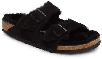 Birkenstock Arizona Slide Sandal with Genuine Shearling