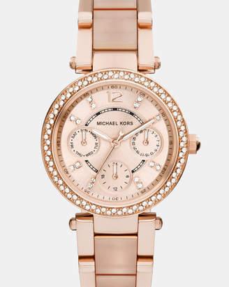 Michael Kors Mini Parker Rose Gold-Tone Chronograph Watch