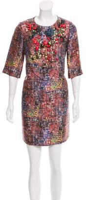 3.1 Phillip Lim Silk Abstract Print Dress