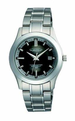 Aureole オレオール) オレオール腕時計 ユニセックス腕時計 約H42.4×W38.5×T10.5mm 約115g ステンレス・黒+銀文字板(SW-490M-1)