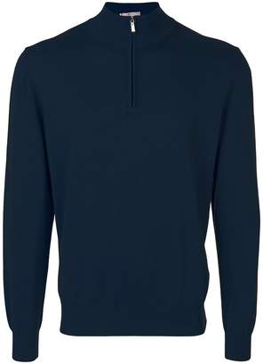 Canali zip-neck sweater