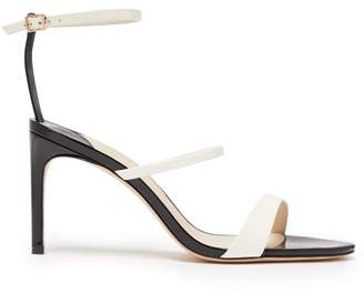 Sophia Webster Rosalind Two Tone Patent Leather Sandals - Womens - Black White