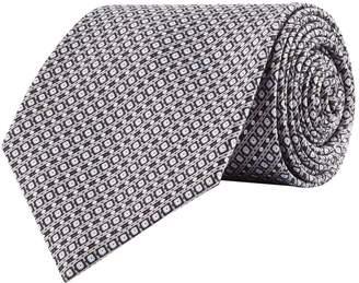 Stefano Ricci Silk Mini Squares Print Tie