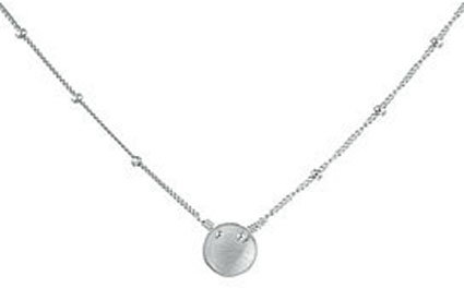 Adina Tiny Disk Necklace in Silver