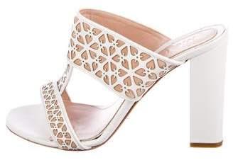 Alexander McQueen Leather Laser Cut Sandals