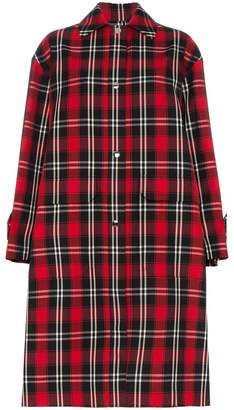 MSGM tartan checked coat