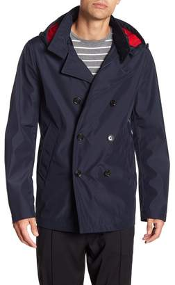 BOSS Callan Removable Hood Double Breasted Coat