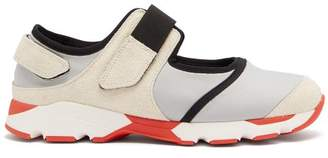 Marni Cut Out Neoprene Low Top Trainers - Mens - Grey