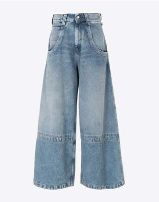 Maison Margiela Panelled-Hem Flared Leg Pants