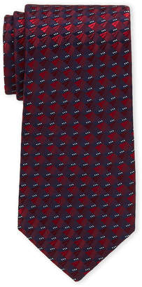 Perry Ellis Portfolio Red Swinley Mini Geo Silk Tie