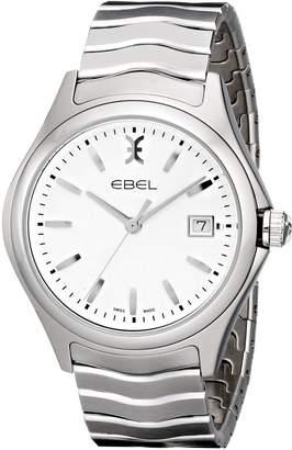 Ebel Men's 1216201 Wave Analog Display Swiss Quartz Silver Watch