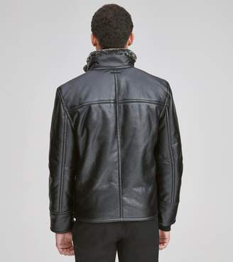 Andrew Marc CALDWELL FAUX LEATHER JACKET