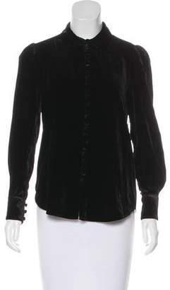 Frame Velvet Button-Up Top w/ Tags