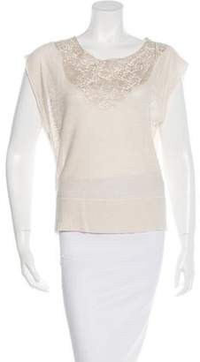 Ulla Johnson Lace-Trimmed Knit Top