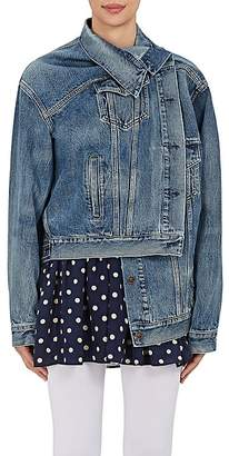 Balenciaga Women's Crossover-Front Denim Jacket