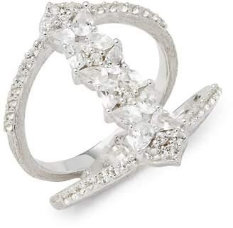 Jude Frances Women's Sterling Silver & White Topaz Studded Ring
