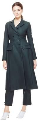 Lela Rose Wool Twill Seamed Coat