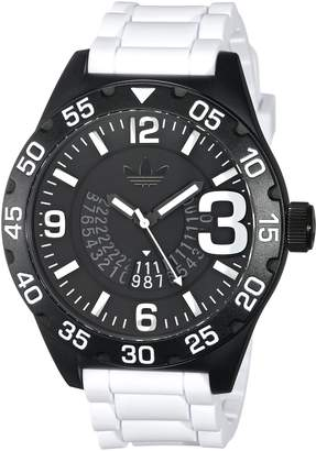 adidas Men's 'Newburgh' Quartz Plastic and Silicone Casual Watch, Color: (Model: ADH3136)