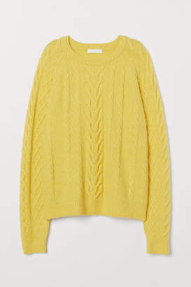 H&M Cable-knit Sweater - Yellow