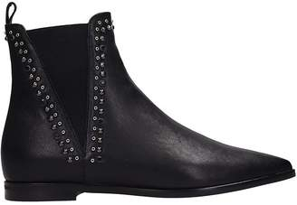 Janet & Janet Black Leather Boots