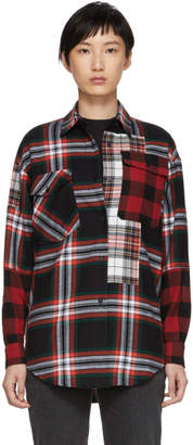 McQ Multicolor Patched Tartan Shirt