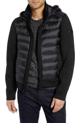 Tumi Quilted Down and Neoprene Hooded Jacket