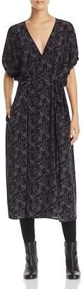 Vince Floral Dot Silk Wrap Dress $485 thestylecure.com