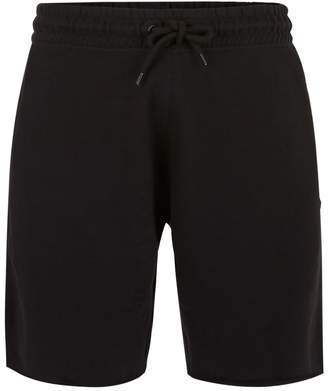 Topman Black Raw Hem Jersey Shorts