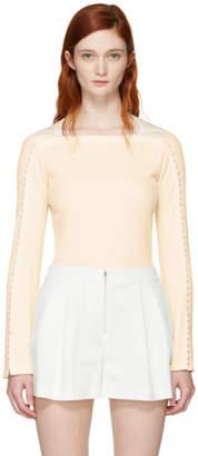 3.1 Phillip Lim White Ribbed Pearl T-Shirt