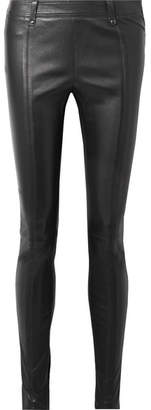 Tom Ford Stretch-leather Leggings - Black