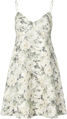 Zimmermann Floral Linen Sun Dress $530 thestylecure.com
