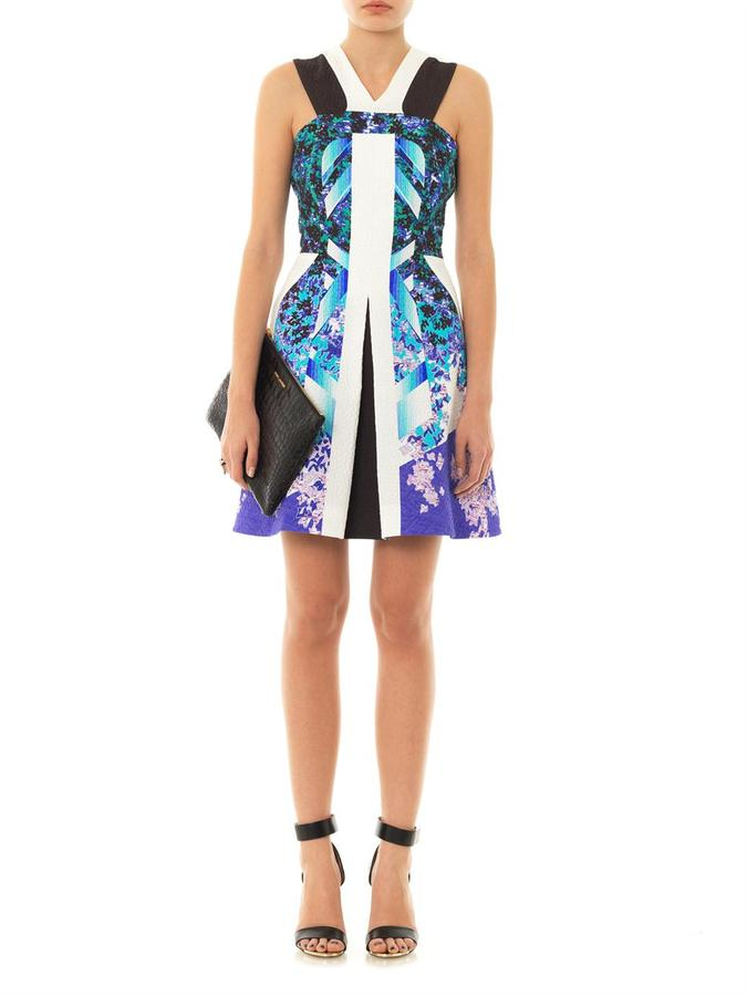 Peter Pilotto Kristin textured print dress