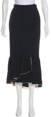 Sonia Rykiel Fluted Midi Skirt Black Fluted Midi Skirt