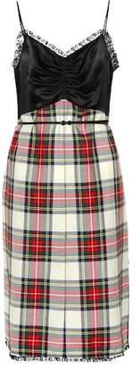Miu Miu Checked wool minidress