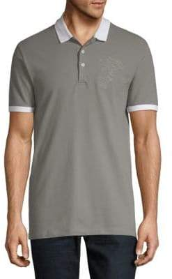 Versace Embroidered Cotton Polo