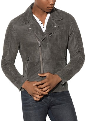 John Varvatos Star USA Suede Leather Biker Jacket $798 thestylecure.com